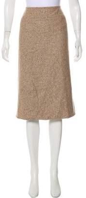 Lafayette 148 Wool-Blend Tweed Midi Skirt