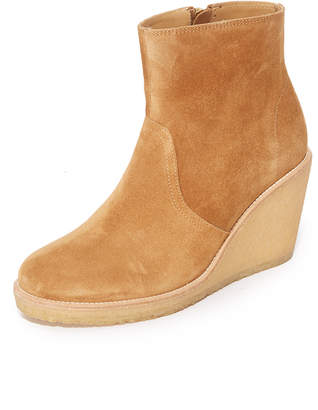 A.P.C. Gaya Wedge Booties $515 thestylecure.com