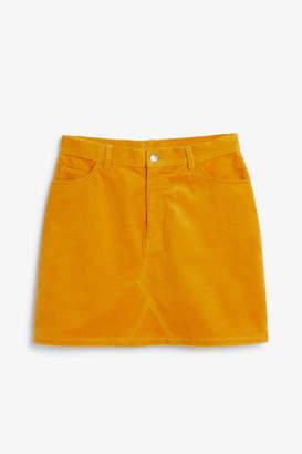 Monki Corduroy mini skirt