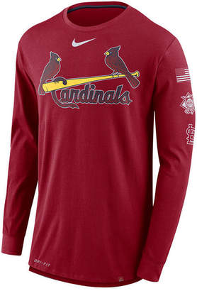 Nike Men's St. Louis Cardinals Drop Tail Long Sleeve T-Shirt