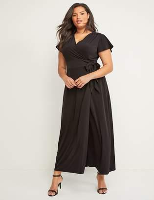 Lane Bryant Flutter Sleeve Maxi Wrap Dress