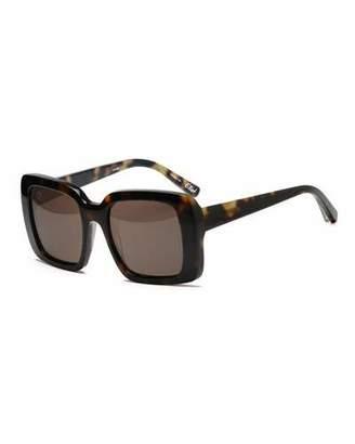 Elizabeth and James Elliot Oversize Square Sunglasses, Tortoise Brown $195 thestylecure.com