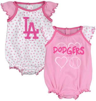 da35b5bce800 Outerstuff Los Angeles Dodgers Heart Creeper Set
