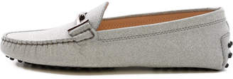 Tod's Tods Mocassin Rubber Silver