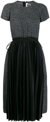 Comme des Garcons contrast pleated dress