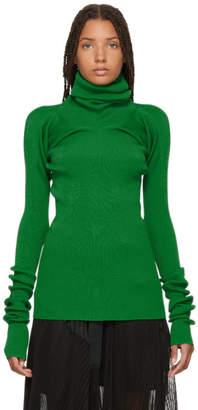 Marni Green Ribbed Turtleneck