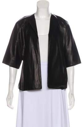 Derek Lam Leather Open Front Jacket