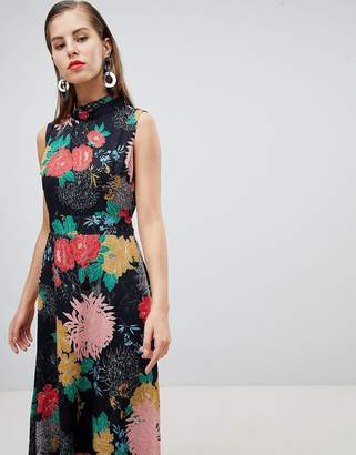 Yumi Uttam Boutqiue High Neck Floral Belted Maxi Dress