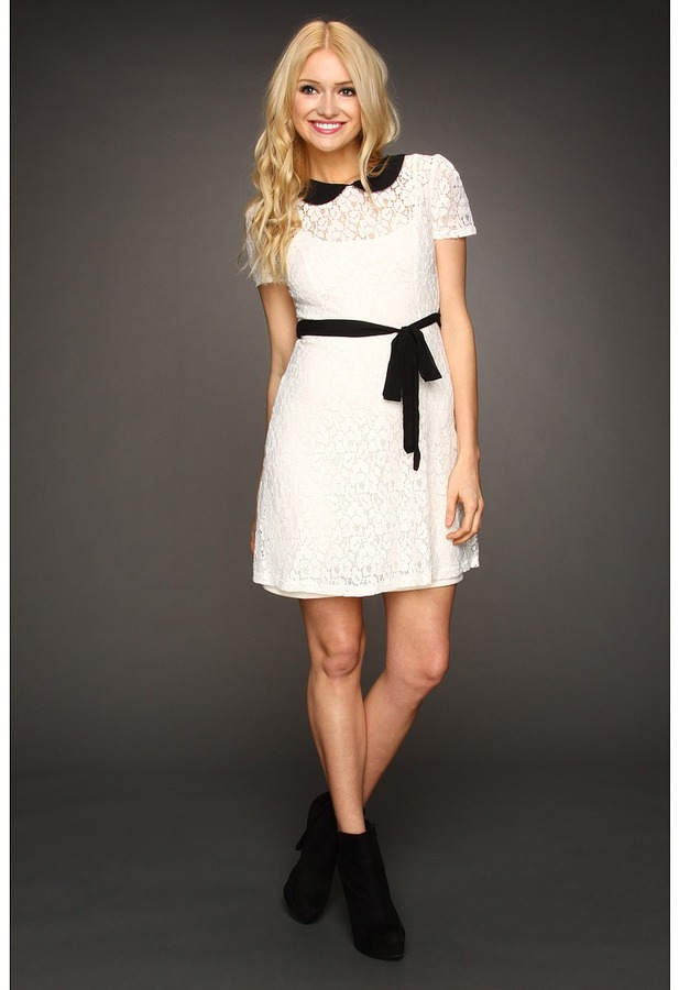 Gabriella Rocha Abbe Lace Dress (Ivory/Black) - Apparel