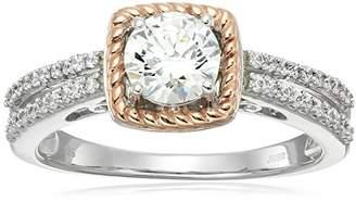 Swarovski 14k Pink Gold Plated Sterling Silver Zirconia Fashion Ring