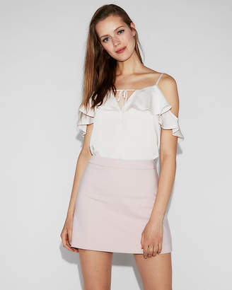 Express High Waisted Clean A-Line Mini Skirt