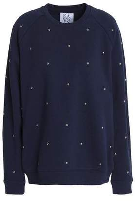 Zoe Karssen Studded Cotton-Blend Terry Sweatshirt
