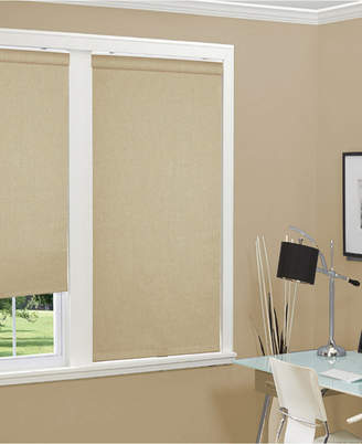"Cordless Linen Look Thermal Fabric Roller Shade, 72""x66"""