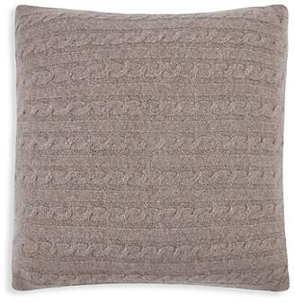 Magaschoni Cable-Knit Cashmere Pillow