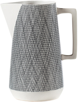 Torre & Tagus Bergen Weave White Ceramic Pitcher