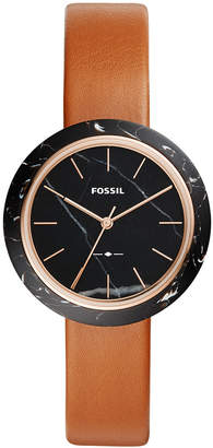 Fossil Women's Camille Luggage Leather Watch Strap 37mm