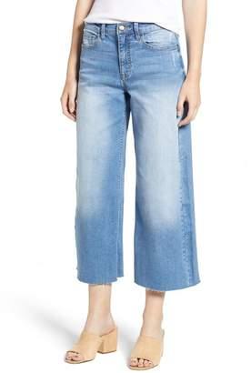 SP Black Crop Wide Leg Jeans