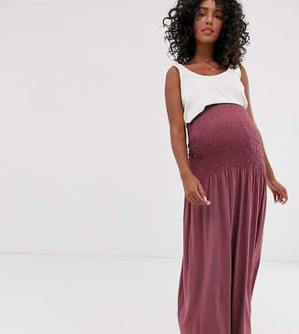 Asos DESIGN Maternity shirred waist maxi skirt