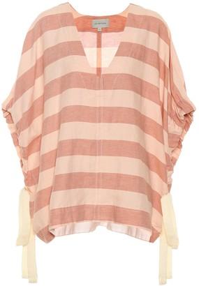 Lee Mathews Sufi striped linen and cotton top