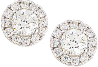 Neiman Marcus Diamonds 18k White Gold Diamond Stud Earrings, 1.5tcw