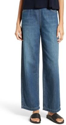 Women's Vince High Waist Side Zip Wide Leg Ankle Jeans $275 thestylecure.com