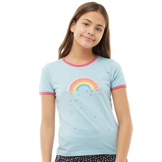 Board Angels Girls Ringer T-Shirt Blue