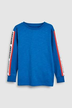 Next Boys Cobalt Printed Sleeve Tape T-Shirt (3-16yrs)