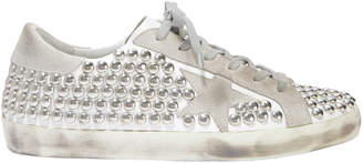 Golden Goose Superstar Silver Studded Low-Top Sneakers