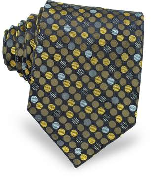 Forzieri Pure Silk Woven Polka Dots Men's Tie