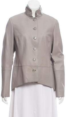 Akris Leather Structured Jacket