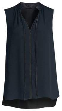 Elie Tahari Milla Sleeveless Silk Georgette Blouse
