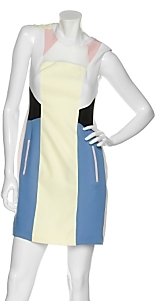 Jonathan Saunders Geometric Silk Shift Dress