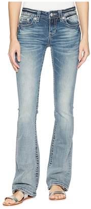 Miss Me Cross Wing Embellished Bootcut Jeans in Medium Blue Women's Jeans