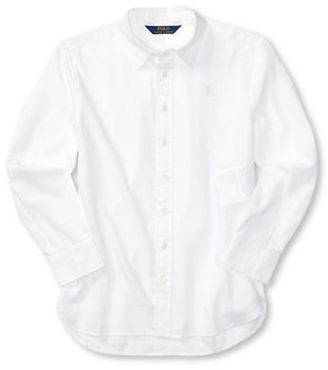 Ralph Lauren Childrenswear Girls 7-16 Girls Cotton Oxford Shirt $45 thestylecure.com