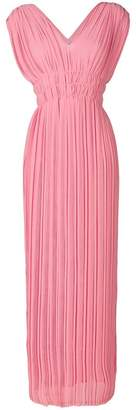 P.A.R.O.S.H. pleated v-neck dress