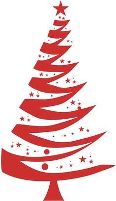 Vinyl Design Christmas Tree 1 Wall Decal, Vinyl Red