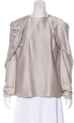 Lanvin Distressed Silk Top w/ Tags