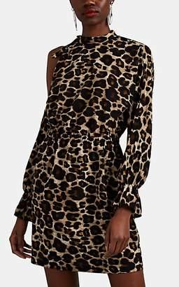Robert Rodriguez Women's Cutout-Shoulder Leopard Crepe Short Dress