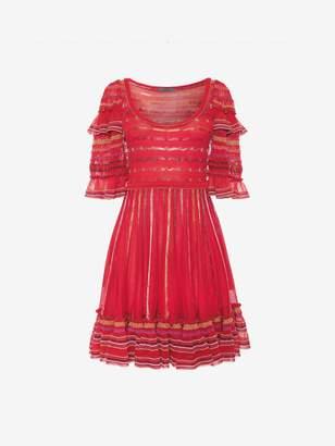 Alexander McQueen Sheer Knit Mini Dress