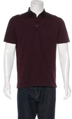 Lanvin Grosgrain-Trimmed Polo Shirt