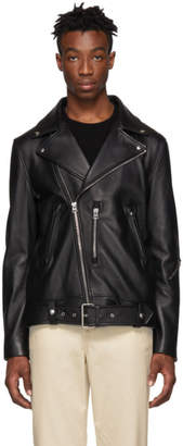 Acne Studios Black Leather Nate Jacket