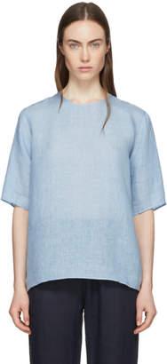 Mansur Gavriel Blue Linen Blouse