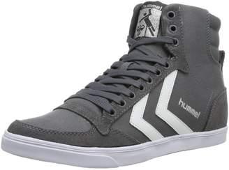 Hummel Slimmer Stadil High castlerock white kh Schuhe Schuhe Herren Damen Sneaker Sport Größe (UK 9,5)