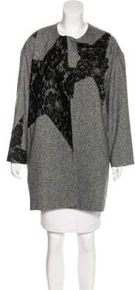 Tome Lace-Accented Short Coat