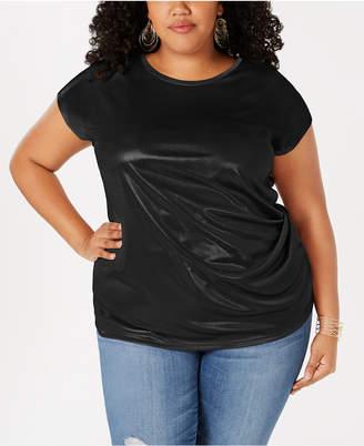 INC International Concepts I.n.c. Plus Size Metallic Twisted T-Shirt