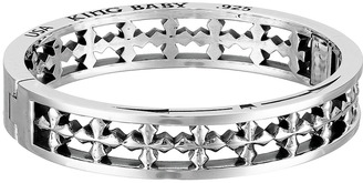 King Baby Studio - MB Cross Hinge Bangle Bracelet $815 thestylecure.com
