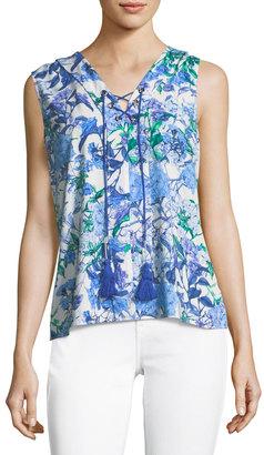 T Tahari Floral-Print Blouse $59 thestylecure.com
