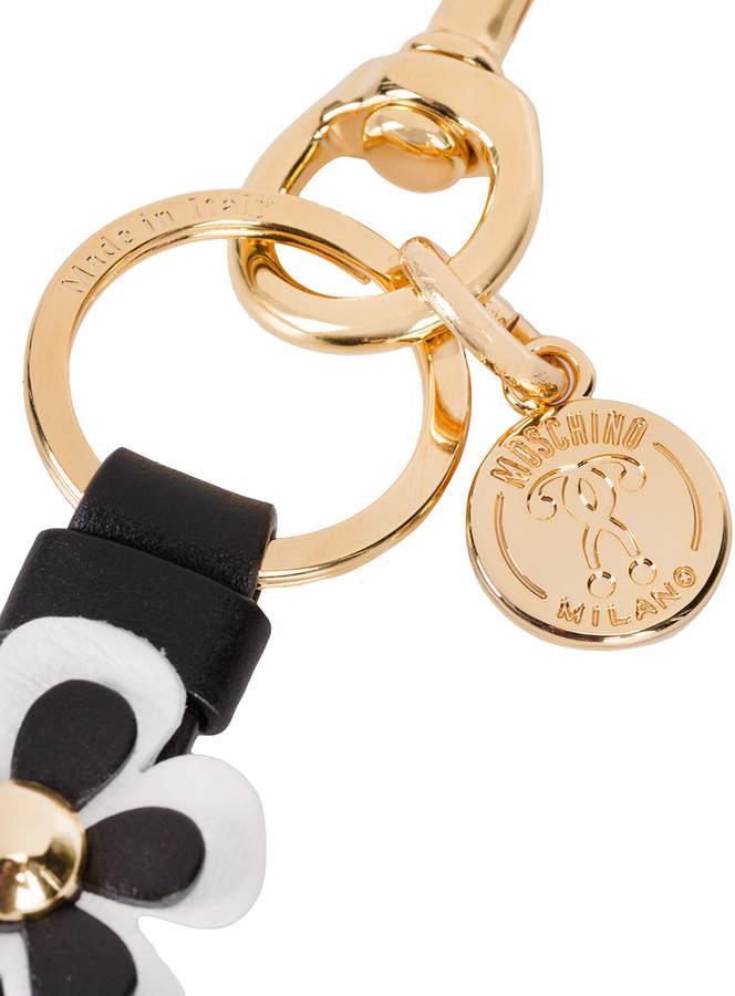 Moschino flower strip key ring