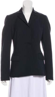 Akris Peak-Lapel Long Sleeve Blazer