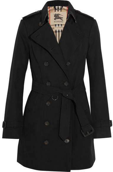 Burberry - The Sandringham Mid Cotton-gabardine Trench Coat - Black